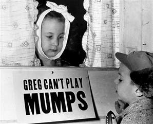 Mumps, measles, and chickenpox were regarded as important rites of passage for a maturing immune system
