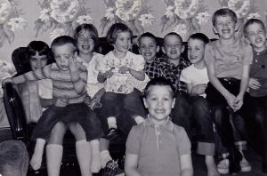 Me and just some of my cousins and siblings, 1963. All of us had had natural measles infection or herd immunity by this time