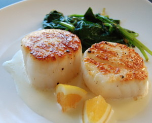 Scallops are full of minerals, protein, and healthy fats.. if you can get them